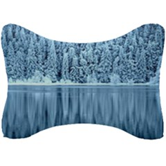 Snowy Forest Reflection Lake Seat Head Rest Cushion