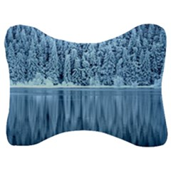 Snowy Forest Reflection Lake Velour Seat Head Rest Cushion by Alisyart