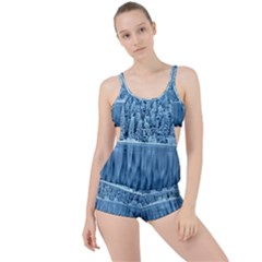 Snowy Forest Reflection Lake Boyleg Tankini Set