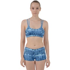 Snowy Forest Reflection Lake Women s Sports Set