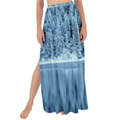 Snowy Forest Reflection Lake Maxi Chiffon Tie Up Sarong