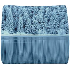 Snowy Forest Reflection Lake Seat Cushion