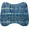 Snowy Forest Reflection Lake Velour Head Support Cushion View2