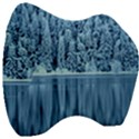 Snowy Forest Reflection Lake Velour Head Support Cushion View3