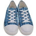Snowy Forest Reflection Lake Women s Low Top Canvas Sneakers View1