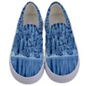Snowy Forest Reflection Lake Kids  Canvas Slip Ons View1