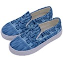 Snowy Forest Reflection Lake Kids  Canvas Slip Ons View2
