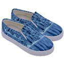 Snowy Forest Reflection Lake Kids  Canvas Slip Ons View3