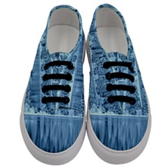 Snowy Forest Reflection Lake Men s Classic Low Top Sneakers