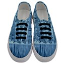 Snowy Forest Reflection Lake Men s Classic Low Top Sneakers View1