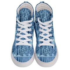 Snowy Forest Reflection Lake Women s Hi Top Skate Sneakers