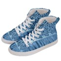Snowy Forest Reflection Lake Women s Hi-Top Skate Sneakers View2