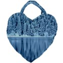 Snowy Forest Reflection Lake Giant Heart Shaped Tote View2