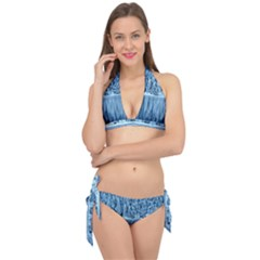 Snowy Forest Reflection Lake Tie It Up Bikini Set