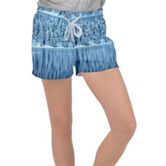 Snowy Forest Reflection Lake Women s Velour Lounge Shorts