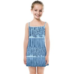 Snowy Forest Reflection Lake Kids Summer Sun Dress