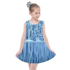 Snowy Forest Reflection Lake Kids  Summer Dress
