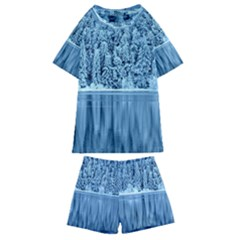 Snowy Forest Reflection Lake Kids  Swim Tee And Shorts Set