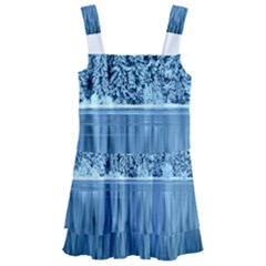 Snowy Forest Reflection Lake Kids  Layered Skirt Swimsuit