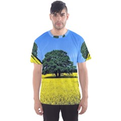 Tree In Field Men s Sports Mesh Tee by Alisyart