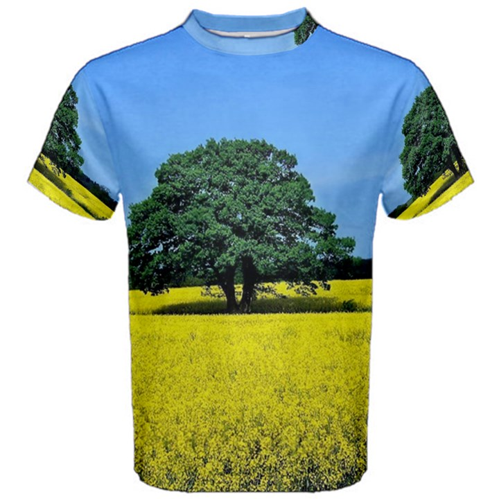 Tree In Field Men s Cotton Tee