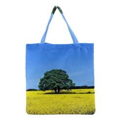 Tree In Field Grocery Tote Bag