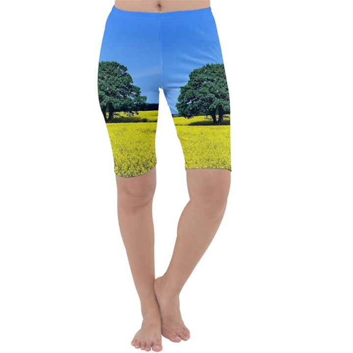 Tree In Field Cropped Leggings
