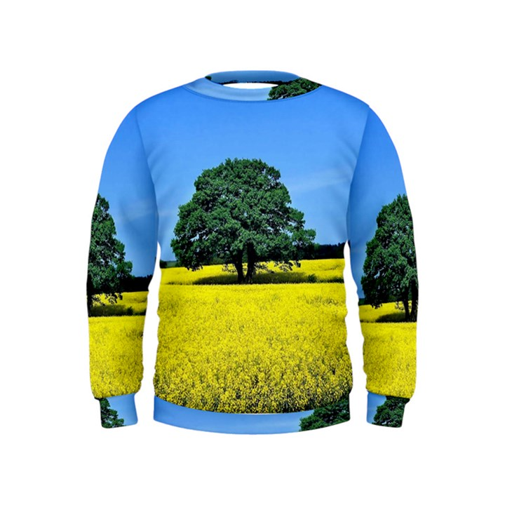 Tree In Field Kids  Sweatshirt