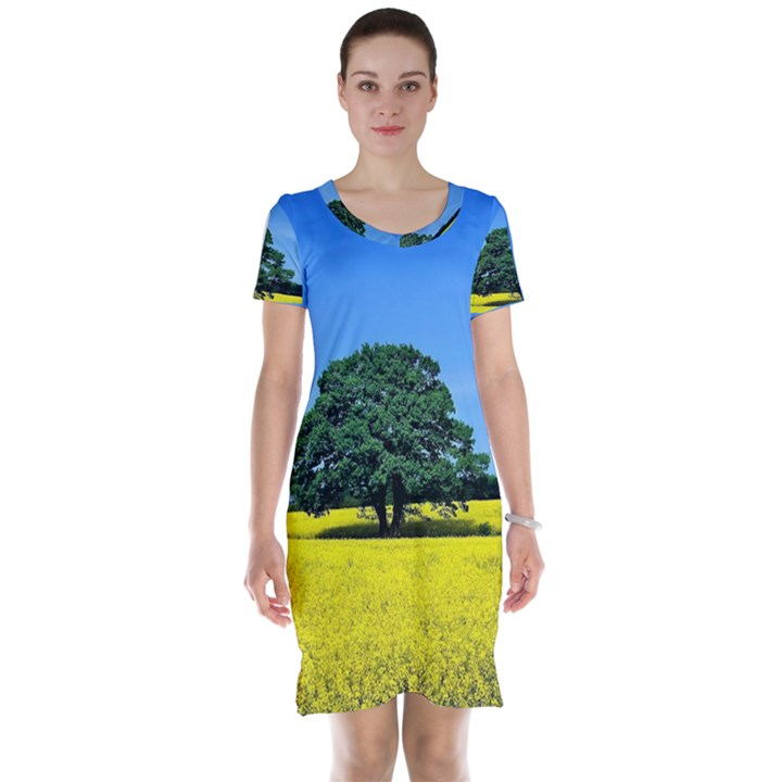 Tree In Field Short Sleeve Nightdress