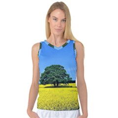 Tree In Field Women s Basketball Tank Top