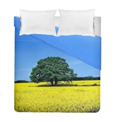 Tree In Field Duvet Cover Double Side (full/ Double Size) by Alisyart