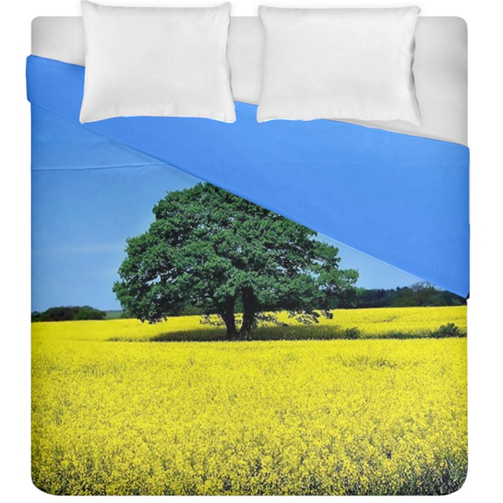 Tree In Field Duvet Cover Double Side (King Size)
