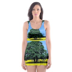 Tree In Field Skater Dress Swimsuit