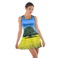 Tree In Field Cotton Racerback Dress