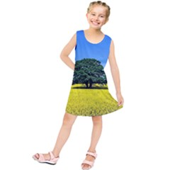 Tree In Field Kids  Tunic Dress by Alisyart