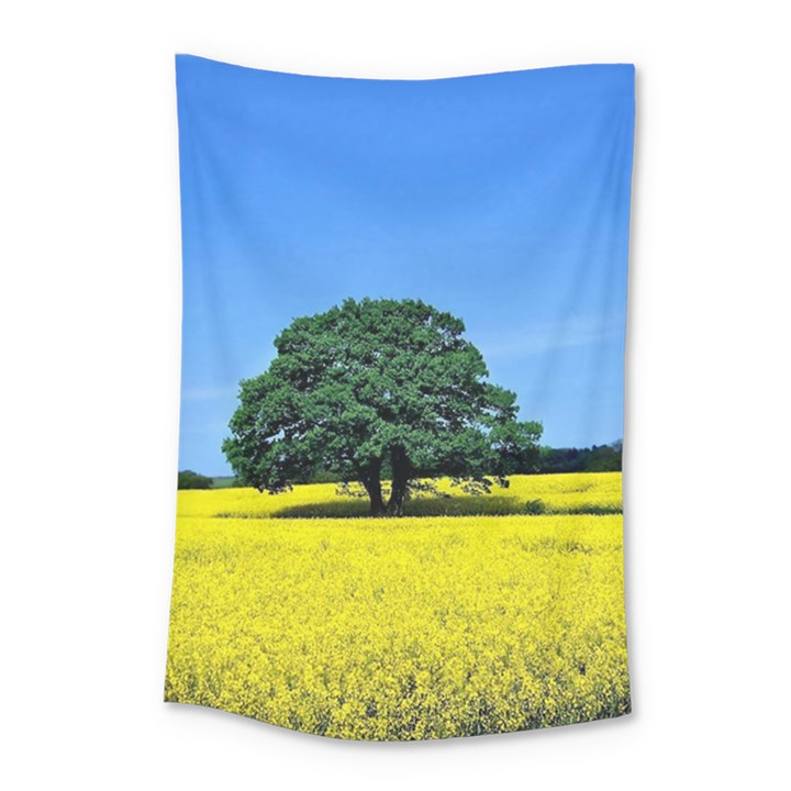 Tree In Field Small Tapestry