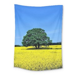 Tree In Field Medium Tapestry