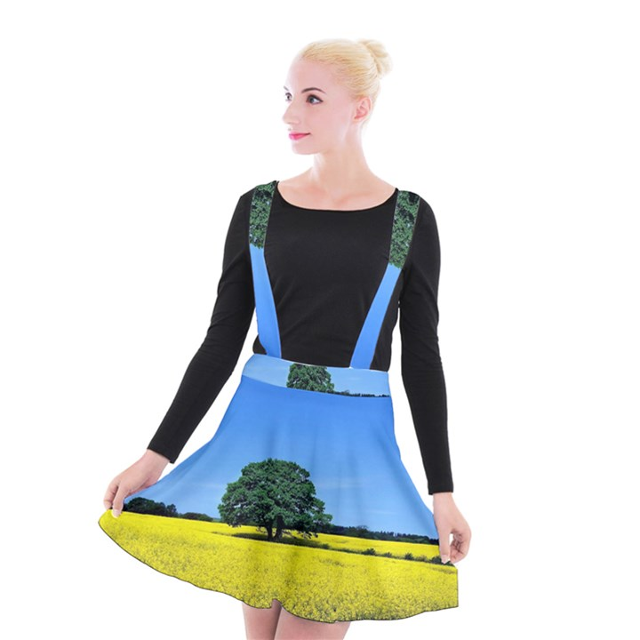 Tree In Field Suspender Skater Skirt