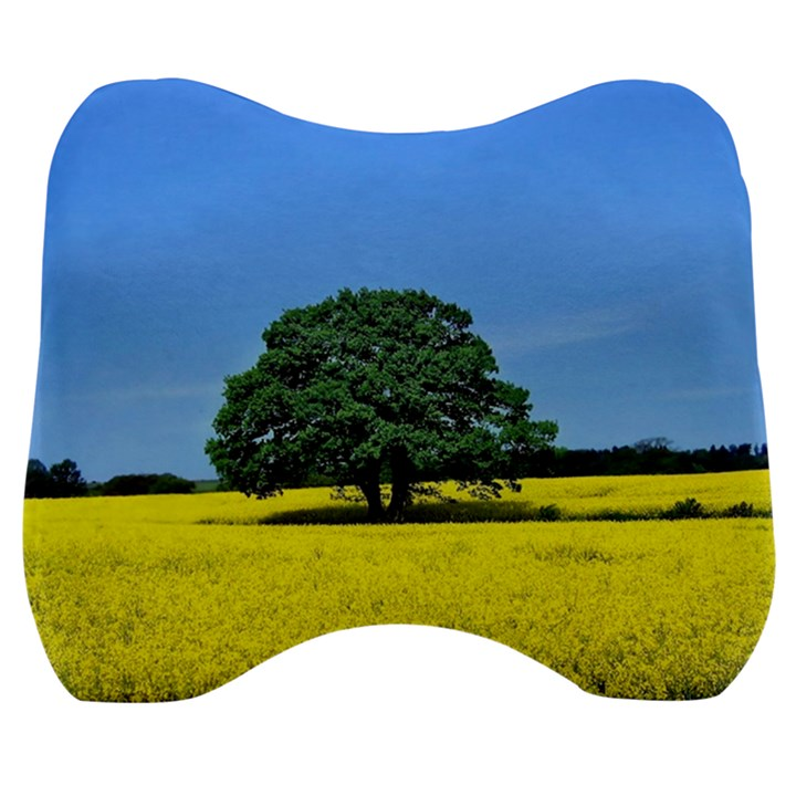 Tree In Field Velour Head Support Cushion