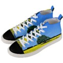 Tree In Field Men s Mid-Top Canvas Sneakers View2
