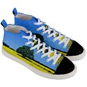 Tree In Field Men s Mid-Top Canvas Sneakers View3