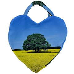 Tree In Field Giant Heart Shaped Tote by Alisyart