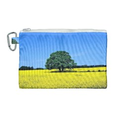 Tree In Field Canvas Cosmetic Bag (large)
