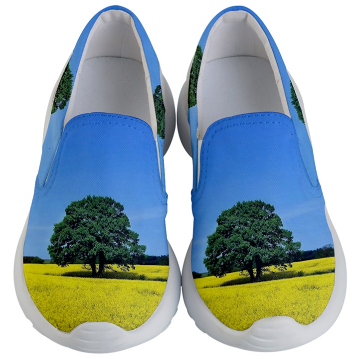 Tree In Field Kid s Lightweight Slip Ons