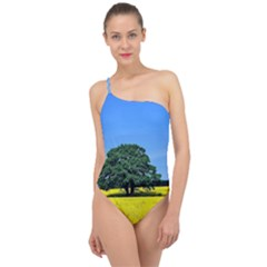 Tree In Field Classic One Shoulder Swimsuit