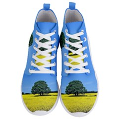 Tree In Field Men s Lightweight High Top Sneakers