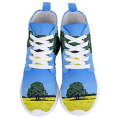Tree In Field Women s Lightweight High Top Sneakers