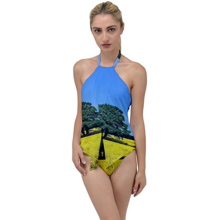 Tree In Field Go with the Flow One Piece Swimsuit