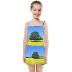 Tree In Field Kids Summer Sun Dress