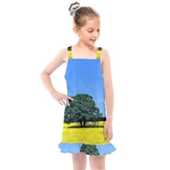 Tree In Field Kids  Overall Dress